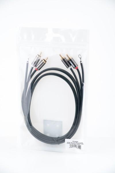 7even High Quality Turntable Replacement Cable - Plattenspieler-Ersatz Cinch Kabel 1,2 mtr mit Erdun