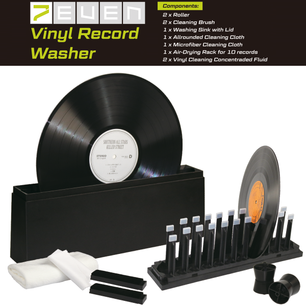 7even LP Schallplatten Waschmaschine Komplettset