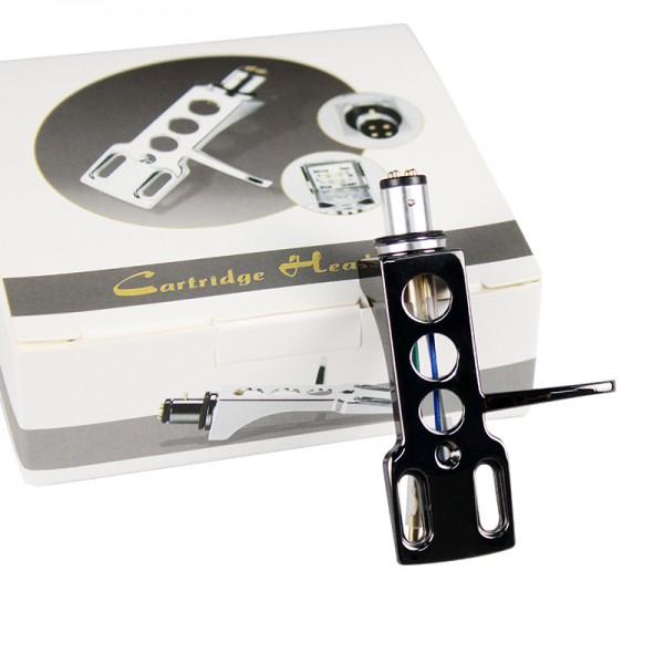 Headshell glänzend schwarz / SME Tonabnehmer Systemträger Halterung in hochglanz schwarz