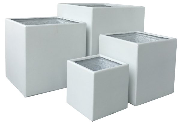 Premium Pflanzkübel Set - Lounge Cube von 7EVEN   Blumentopf eckig Pflanzgefäße Blumenkasten Pflanztöpfe Blumenkübel Pflanztrog Steinoptik Blumentrog Pflanzkasten Übertopf   Gartengestaltung modern