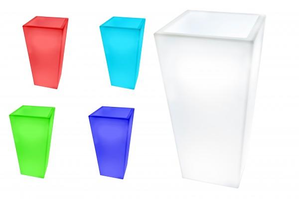 7even LED Design Blumentopf / LED-Vase / Flower Pot T40 X B30 X H80cm Farbwechsel Blumentopf