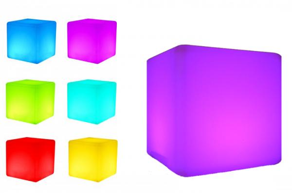 7even LED Design Cube 50/ LED Leucht Sitzwürfel / In und Outdoor / B-Ware (Versandrückläufer)