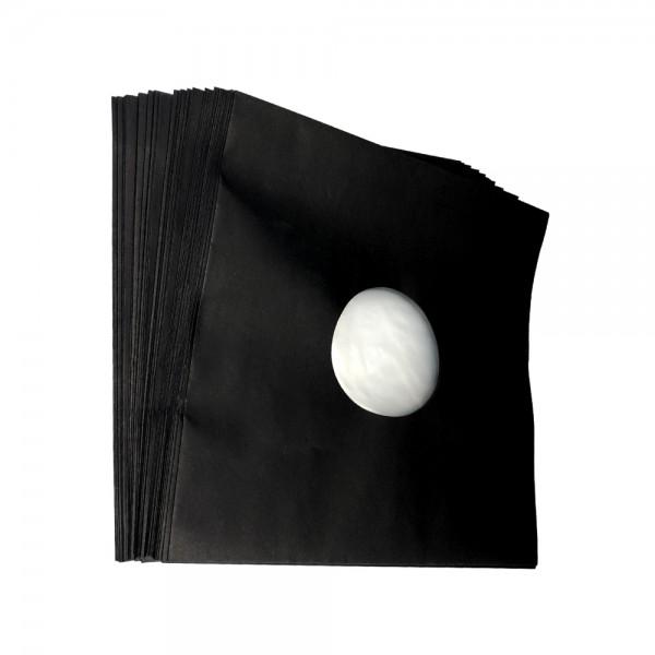 """12"""" Schallplatten LP-Innenhülle schwarz gefüttert (50 Stück Pack)"""