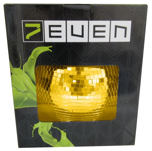 Spiegelkugel GOLD 30cm mit Motor (inkl. Zweiter Sicherheitsöse an Kugel und Motor)