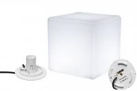 7even Design Cube-Leuchte 30 x 30 x 30cm mit E-27 Fassung und 220V Anschluss / Indoor & IP67 Outdoor