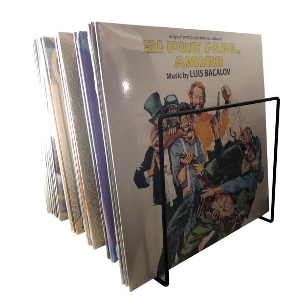 Schallplatten Ständer schwarz / Vinyl Records LP Tisch-Rack