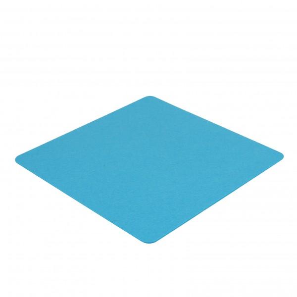 Filz Auflage 40 x 40 cm für z.B. Cube Hocker Blau - Einseitig 4mm