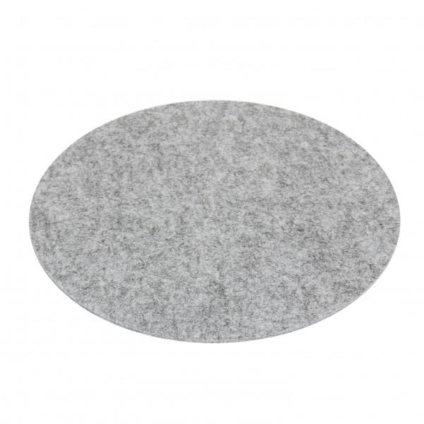Filz Auflage 33 cm Rund grau - Kreisförmige Filzmatte Einseitig 4mm