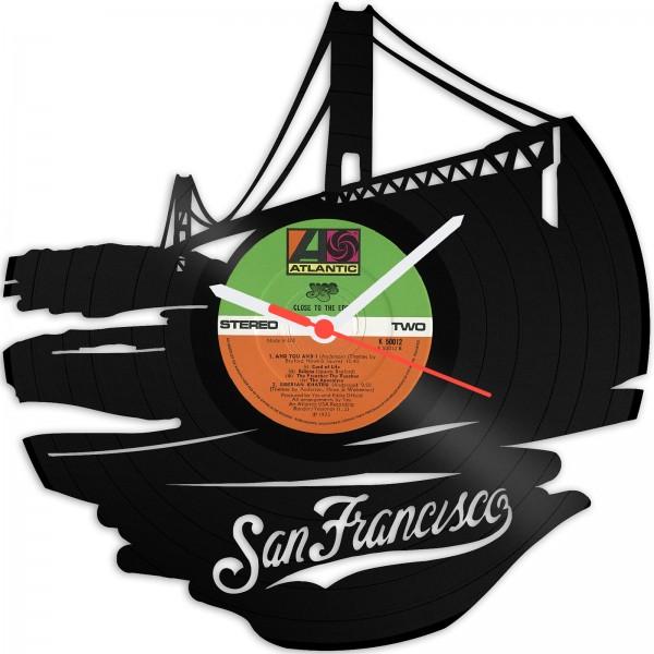 Wanduhr San Francisco aus Schallplatte