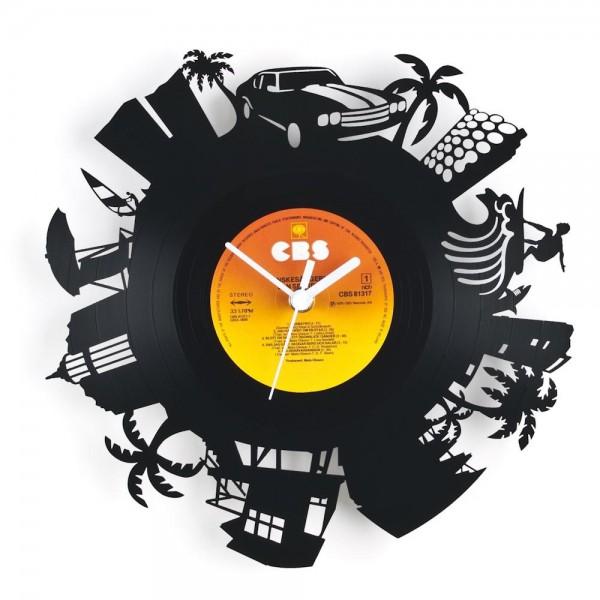 Schallplatten Wanduhr Miami 2017